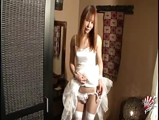 innocent japanese ts in white
