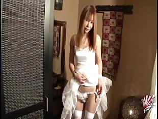 innocent japanese ts in white