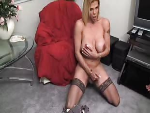 Big titty blonde shemale solo