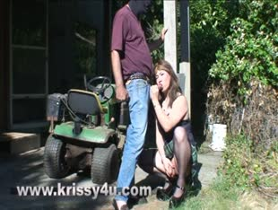 Asian Tgirl Krissy Gives Great Head In The Sun!