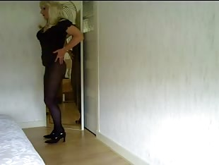 sexy tranny with blond hair