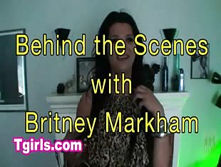 Britney Markham behind the scenes