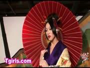 Newhalf Karina in Kimono