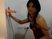 Hot Brunette Fucks With Dildo