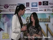 Morgan Bailey Interviewing Amber Littlefeather at 6th Annual Tranny Awards