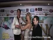 Morgan Bailey Interviewing Aubrey Kate at 6th Annual Tranny Awards
