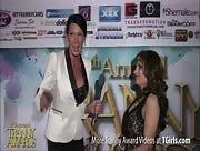 Morgan Bailey Interviewing Tasha Jones at the 6th Annual Tranny Awards