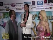 Morgan Bailey Interviewing Buddy Wood and Sofia Ferreira at the 6th Annual Tranny Awards