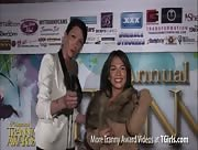 Morgan Bailey Interviewing Jaslyn Lee at the 6th Annual Tranny Awards