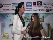 Morgan Bailey Interviewing Tiffany Starr at the 6th Annual Tranny Awards
