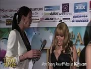 Morgan Bailey Interviewing Jesse at the 6th Annual Tranny Awards