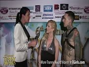 Morgan Bailey Interviewing Tyra Scott and Ruckus at the 6th Annual Tranny Awards