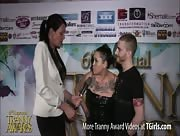 Morgan Bailey Interviewing Sebastian Keys at the 6th Annual Tranny Awards