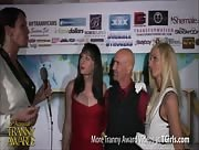 Morgan Bailey Interviewing Eva Cassini, Jamie French, and Smith at the 6th Annual Tranny Awards