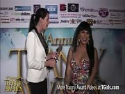 Morgan Bailey Interviewing Demii D Best at the 6th Annual Tranny Awards