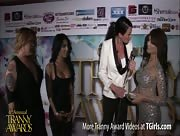 Morgan Bailey Interviewing Kim Bella and Jane Marie at the 6th Annual Tranny Awards