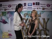 Morgan Bailey Interviewing Gianna Rivera at the 6th Annual Tranny Awards
