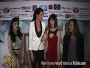 Morgan Bailey Interviewing Nina Lawless and Kendra Sinclaire at the 6th Annual Tranny Awards