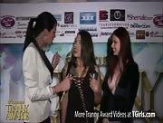 Morgan Bailey Interviewing Tori Mayes and Tatiana Summers at the 6th Annual Tranny Awards