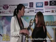 Morgan Bailey Interviewing Hanna from Transformation Magazine at the 6th Annual Tranny Awards