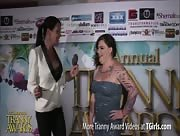 Morgan Bailey Interviewing Michelle Austin at the 6th Annual Tranny Awards