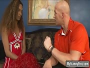 Cheerleader shemale Becca anal pounded with nasty coach