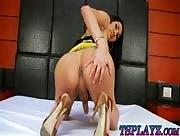 Round ass tranny Pala masturbates her cock to orgasm