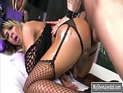 Busty tranny Kessy Bittencour and nasty guy anal fucking