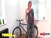 Alexia Angel Bike with a Dildo!