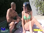 Kelli Lox Picked up Poolside by Robert Axel