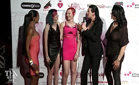 TEA RedCarpet Rianna James, Sarina Havok, Robin Coffins 2018
