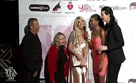 TEA RedCarpet Aubrey Kate, Aiden Starr, John Stagliano, Evil Angels 2018