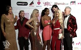 TEA RedCarpet Nadia Love, Alexander Sinclair, Aspen Brooks 2018