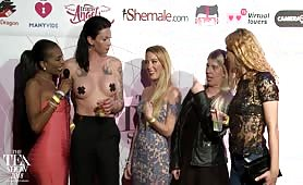 TEA RedCarpet Shemale.com crew 2018